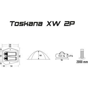 CAMPZ Toscana XW 2P Zelt beige/grau